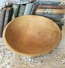 1930s Munising Primitive Wooden Dough Bowl Off Round 10 to 11 Inches