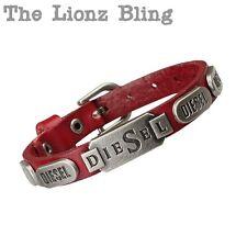 Urban Vintage style DIESEL Genuine Red Leather Band Bracelet