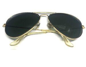 B&L Ray Ban USA 58[]14 Gold Aviator Sunglasses G6