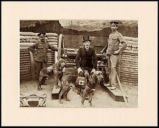 BLOODHOUND WAR DOG MAJOR RICHARDSON LOVELY DOG PRINT MOUNTED READY TO FRAME