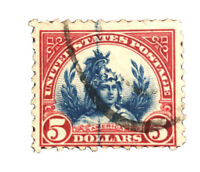 USED  H U.S.  STAMP  SC #573  1923 STATUE OF LIBERTY