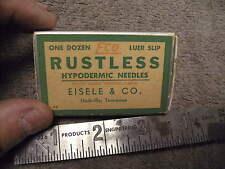 Vintage Eco Luer Slip Rustless Hypodermic Needles , Empty Box , Eisele & Co,