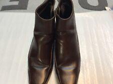 """Predictions~~~~6.5 W~~Women's Brown Side-Zip 1.5"""" Heels~SQ Toes"""