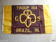GIRL SCOUT - 2 x 3' BROWNIE TROOP FLAG - BRAZIL, IN