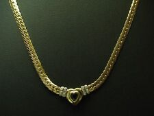 14kt 585 Yellow Gold Necklace with Diamond & 0,25ct Spinel