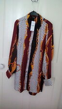BNWT - Yours Clothing - multi coloured chain print satin tunic shirt, size 16