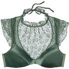 VICTORIA'S SECRET Dream Angels Floral Lace High-neck Bra Basil Green 34 36 NEW
