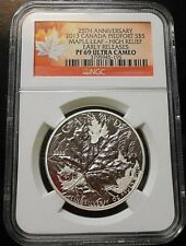 2013 CANADA 25th ANNIV. ~ PIEDFORT HIGH RELIEF ~ NGC PF69 ~ FREE SHIPPING