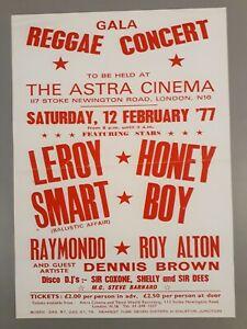 Reggae & Ska promo concert poster - Leroy Smart & Dennis Brown 1977 A3 reprint