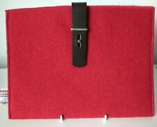 NEW Red Harris Tweed IPAD Cover TABLET Sleeve Case, fully lined