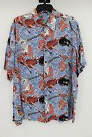 Vintage Reyn Spooner Hawaiian Shirt Guitar Musical Instruments Men's Size L/XL