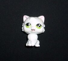 LITTLEST PET SHOP WHITE KITTY CAT GREEN EYES MAGNET TONGUE MOVE FIGURINE TOY LPS