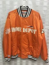 Nascar Orange Racing Bomber Jacket Size Large