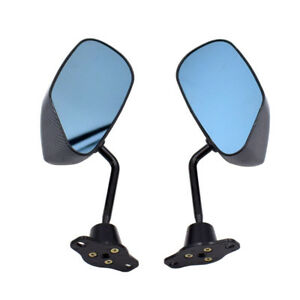 2x Classic Car Door Side Mirrors Anti-glare Glass Universal Custom Carbon Look