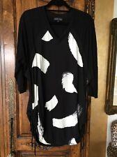 Jean-Marc Philippe Black/white Print Dress Size 3 (Large)