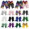 Girls Sequin Large Ribbon Bow Hair Band Scrunchie Hair Tie Rope Ponytail Holder