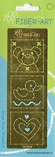 Marianne Design Fiber-Art Stick gabarit fil technique Teddy Canard cœur (e-052)