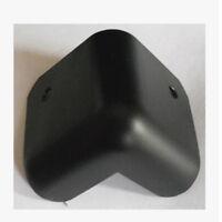 8pcs 90° Hard Steel Guitar Amp Amplifier Speaker Cabinet Corners Protector Black