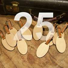 25 Custom Made Wooden Oval Personalized Luggage ID Tag with Your Name & Address
