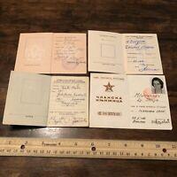 4 RARE Yugoslavian ID Books USSR Soviet Union Idenification Card Photo Old ID