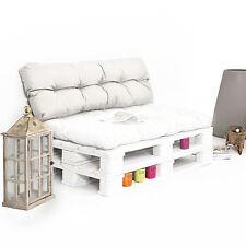 Cuscino da esterno spalliera per divano pallet eur idrorepellente naturale 120cm