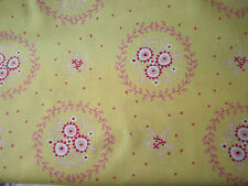 Yellow with red sunflowers on 100% cotton - Ella Blue Fabric per Fat Quarter