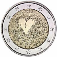 Finnland 2 Euro Münze 60 Jahre Menschenrechte 2008 Gedenkmünze Unzirkuliert