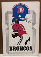 Rare Vintage 1974 Denver Broncos Cardboard Sign NFL FLEER BIG 8x11.5