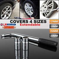 Telescopic Extendable VAN Car Tyre Wrench Socket Wheel Brace Nut 17 19 21 & 23mm