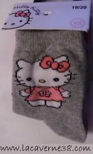 Lot de 2 paires de chaussettes Hello Kitty 18/20 gris rose sous vêtement enfant
