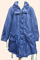 Blue Lagenlook Padded Parka Coat Plus Size 18/20+