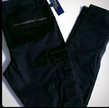 BNWT Ralph Lauren POLO Black Cargo Trousers  Skinny Tapered Womens size 4 UK