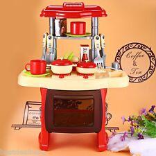 Goplus Wood Kitchen Toy Kids Cooking Pretend Play Set