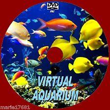VIRTUAL FISH TANK AQUARIUM DVD 10 SOOTHING SCENES INC SOUNDS 4 LED PLASMA TV NEW