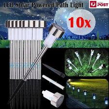 10 x Stainless Steel Landscape/Grass/yard/Home Garden Solar Path LED Light Lamp