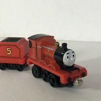 Thomas The Train James Pull n Go Zoom Tanker Tender Diecast Rare Take Play
