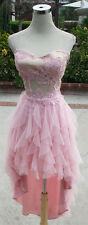 NWT NIGHTS $140 Pink Hi-Lo Prom Party Evening Dress 7