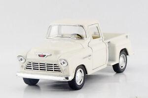 Kinsmart 1:32 1955 CHEVROLET Pick-Up Pickup Truck Diecast model Pullback White