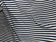 tissu coton/polyester rayures marin 100x140 cm