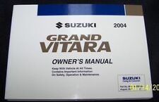 2004 suzuki grand vitara owners manual new original ebay rh ebay co uk grand vitara service manual 2007 2010 grand vitara service manual pdf