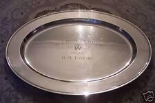 Pinehurst NC Tin Whistles 1955 Barber Memorial Golf Trophy Sterling Silver Tray