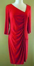 Joseph Ribkoff Red Ruched Sleeves Holiday Dress US 12 UK 14