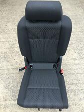 VW CADDY LIFE VAN 2004-2014 2ND ROW RIGHT FOLDING GRAY CLOTH SEAT SEATS