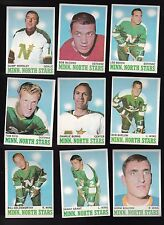 1970 Topps Team SET Lot of 9 Minnesota NORTH STARS Near Mint Gump GOLDSWORTHY