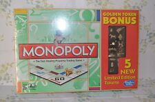 NIB sealed Monopoly Golden Token Bonus Game limited edition 5 NEW TOKENS!!!