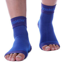 Doc Miller Plantar Fasciitis Arch Support Compression Ankle Brace Sock BLUE