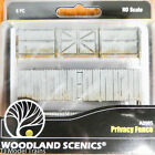 Woodland Scenics HO #2985 Privacy Fence - Kit with Gates, Hinges & Planter Pins