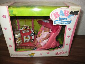 Baby Born Miniworld -- Puppe mit Buggy + Ente