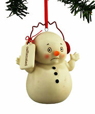 DEPT 56 SNOWPINIONS SNOWMAN'CAFFEINATED'XMAS TREE ORNAMENT  FOR COFFEE LOVERS