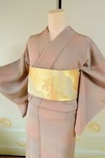Kimono Silk Komon Women & Fukuro Obi SET/ Japanese vintage Geisha /382